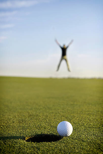 Great Putt! stock photo