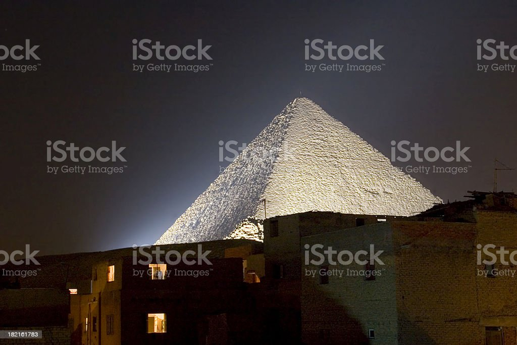 Great Pyramid by Night royalty-free stock photo