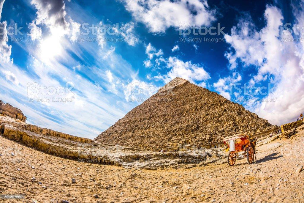 Great Pyramid in Giza, Egypt stock photo