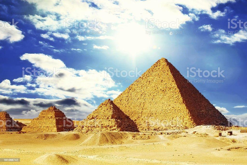 Great Pyramid  located at Giza . royalty-free stock photo