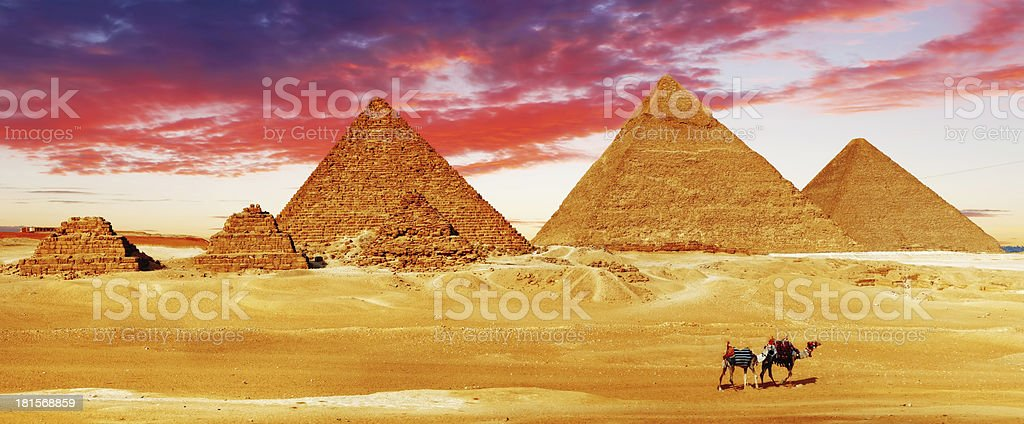 Great Pyramid    located at Giza royalty-free stock photo