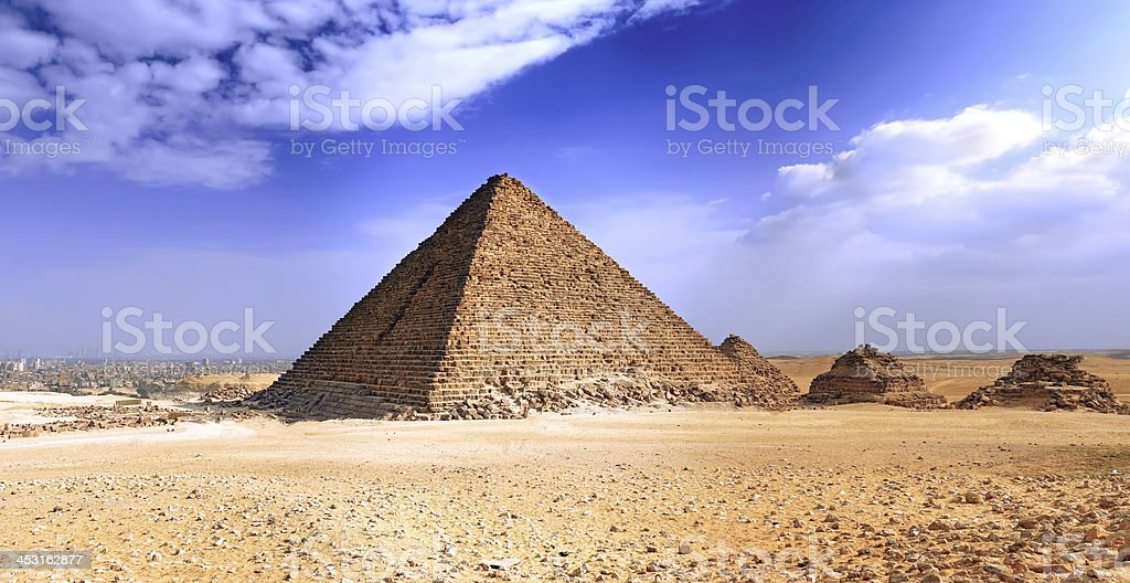 Great Pyramid of Giza. Egypt royalty-free stock photo
