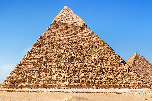 great pyramid of giza - egypt - pyramid stock photos and pictures