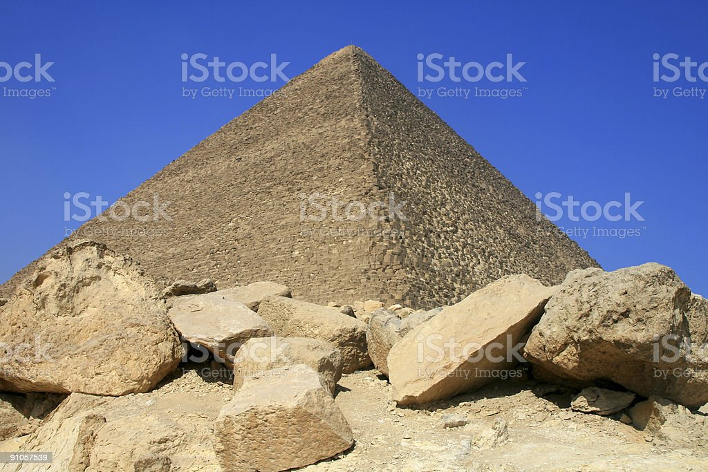Great Pyramid of Giza in Cairo, Egypt royalty-free stock photo
