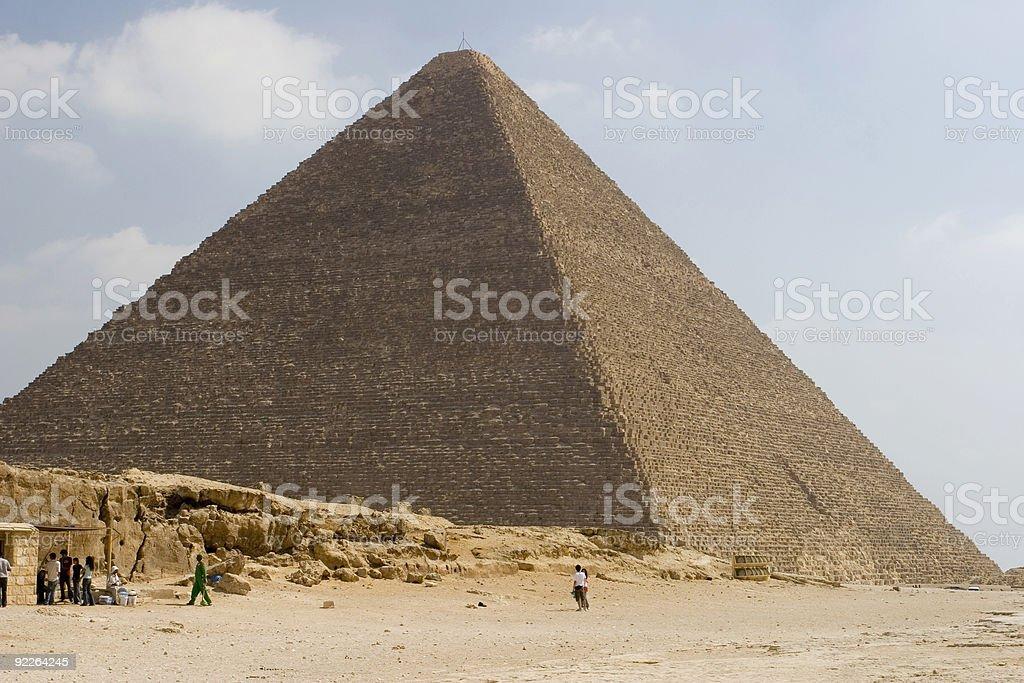 Great Pyramid royalty-free stock photo