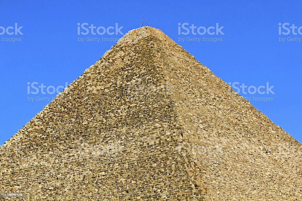 Great pyramid top royalty-free stock photo