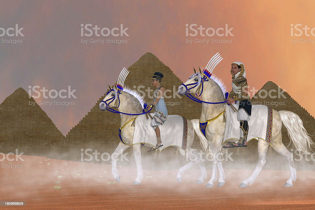 Great Pyramids and Nobility royalty-free stock photo