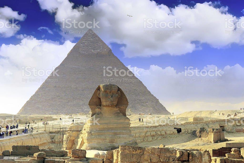 Great Pyramids Cairo .Egypt. royalty-free stock photo