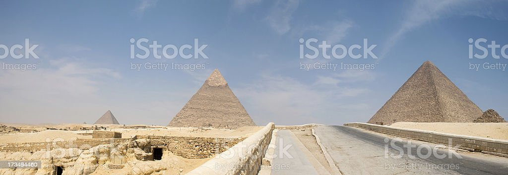 Great pyramids in Giza valley royalty-free stock photo