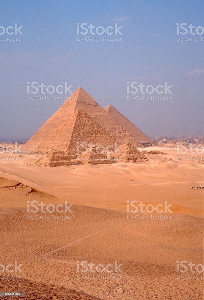 Great Pyramids of Giseh stock photo