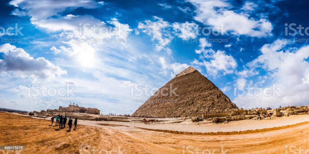 Great Pyramids of Giza, Egypt stock photo