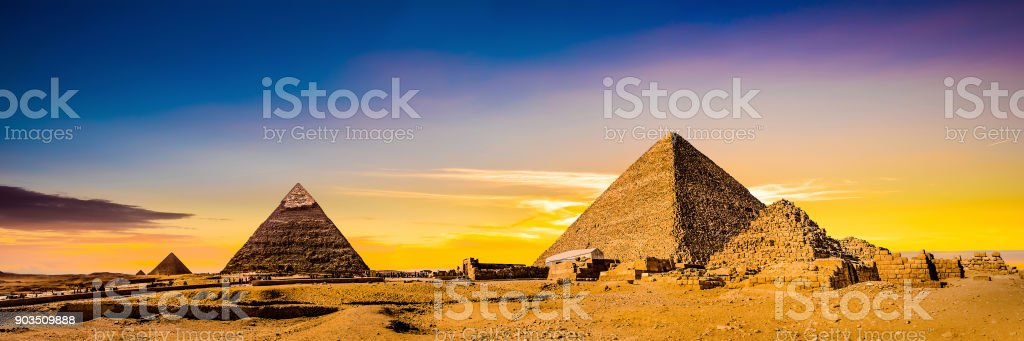 Great Pyramids of Giza stock photo