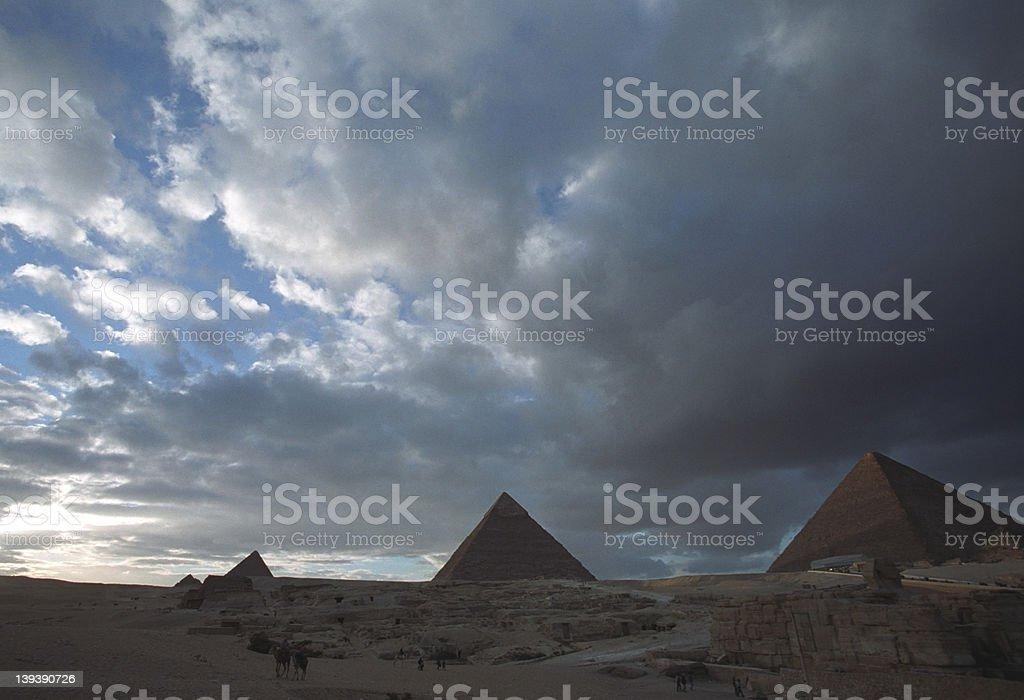 Great pyramids stock photo