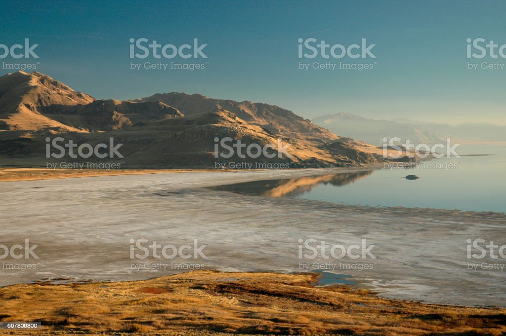 Great Salt Lake desert Utah stock photo