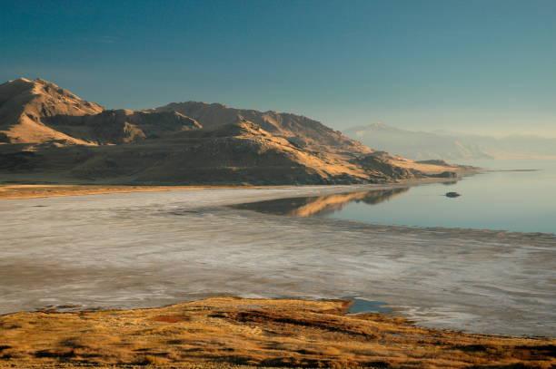 Great Salt Lake desert Utah stock photo