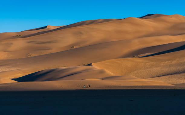 Great sand dune national park  at sunrise,Colorado,usa. stock photo