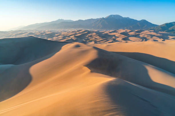 great sand dune national park at sunset,colorado,usa. - sand dune stock photos and pictures