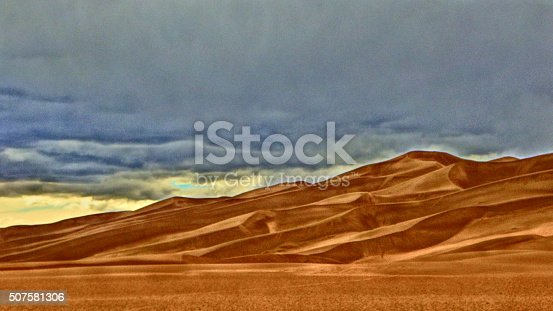 Great Sand Dunes National Park, Colorado. High Dynamic Range photo.