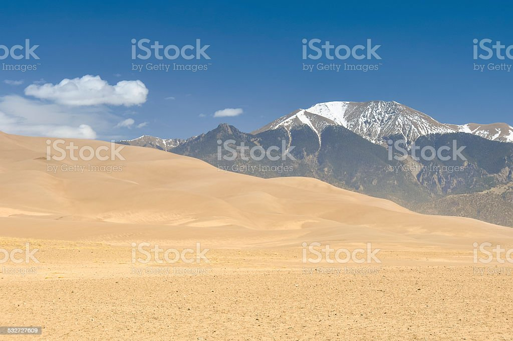 Great Sand Dunes National Park and Preserve, Colorado (USA) stock photo