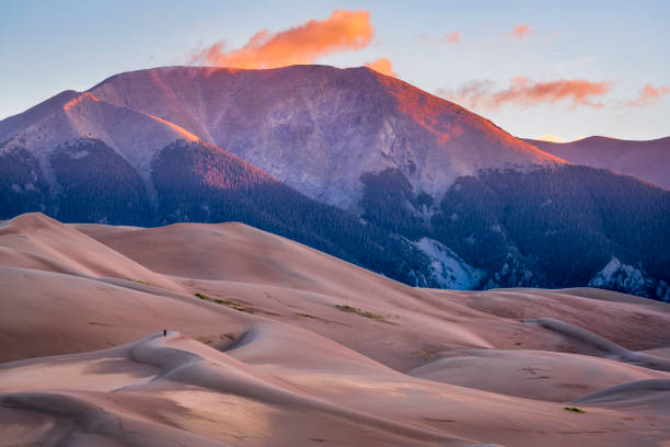 Great Sand Dunes National Park at dawn stock photo