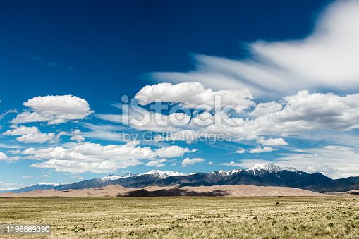 Sand, meadow, and cloud