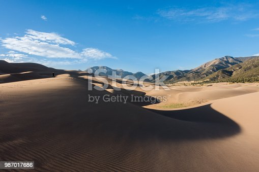 Great Sand Dunes National Park in spring.