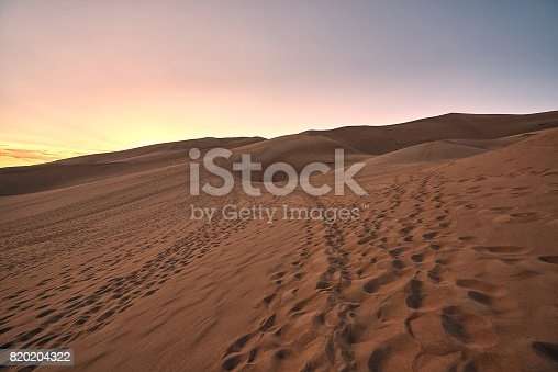 Great Sand Dunes National Park and Preserve, Saguache County, Colorado, USA