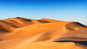 Sand dunes on Libyan Desert. The Sahara Desert is the world's largest hot desert.