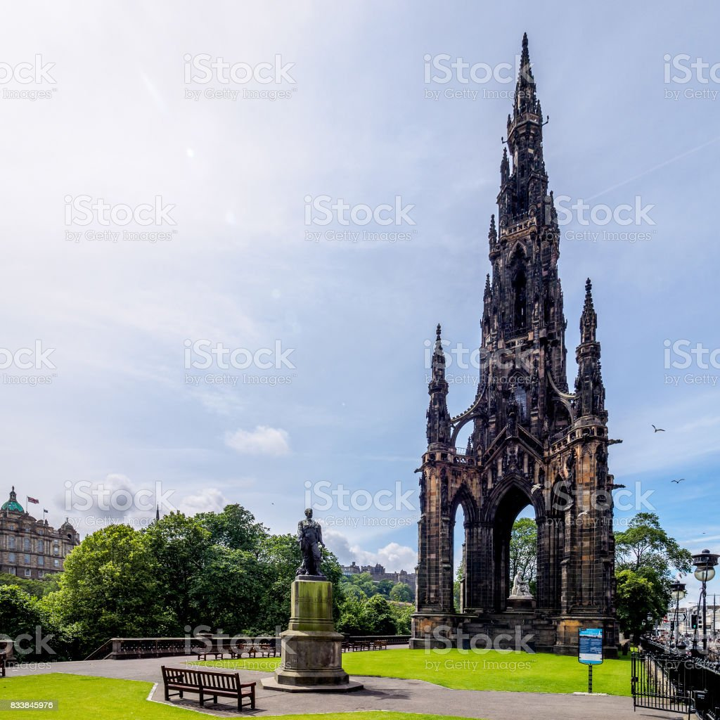 Great Scott - Princes Street Edinburgh stock photo