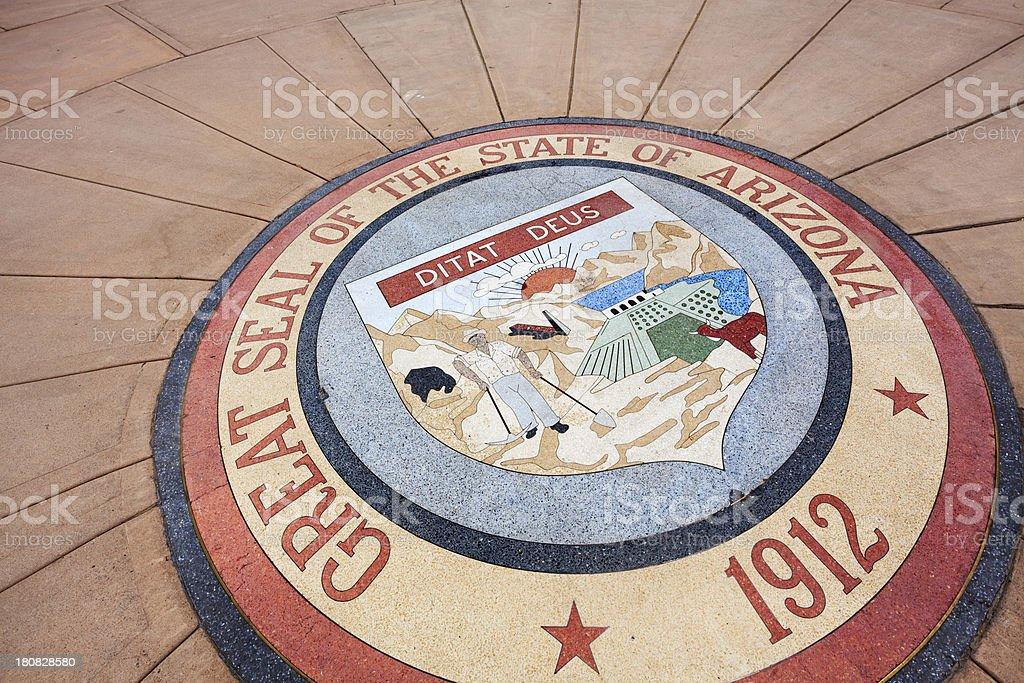 Great Seal of Arizona stock photo