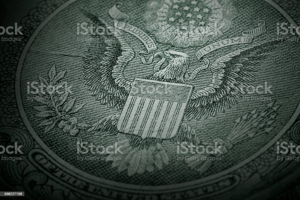 Great Seal of the United States - One Dollar Bill foto royalty-free