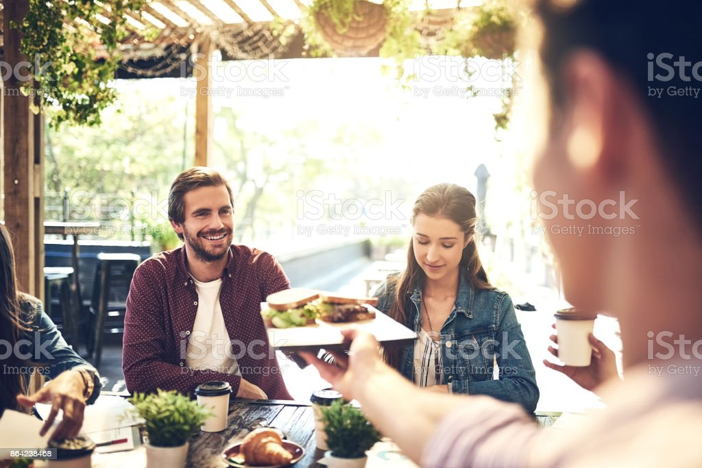 Great service at a great place royalty-free stock photo
