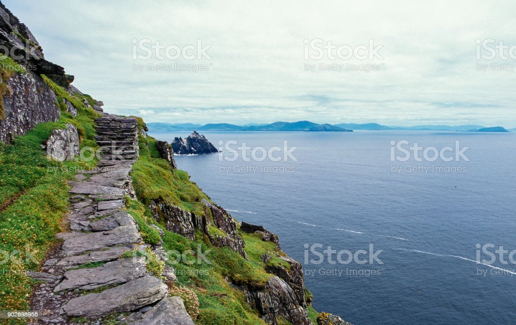 Great Skellig Island stock photo