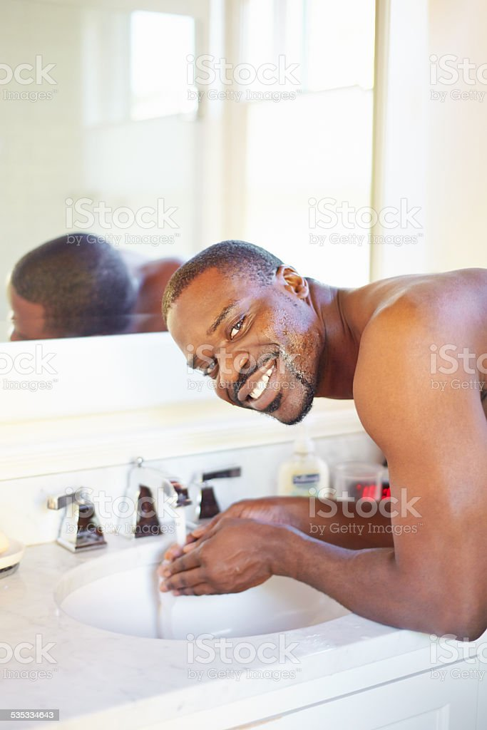 Great skin gives me the confidence to face the day stock photo