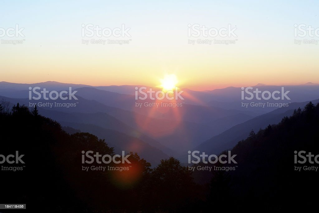 Great Smokey Mountains royalty-free stock photo