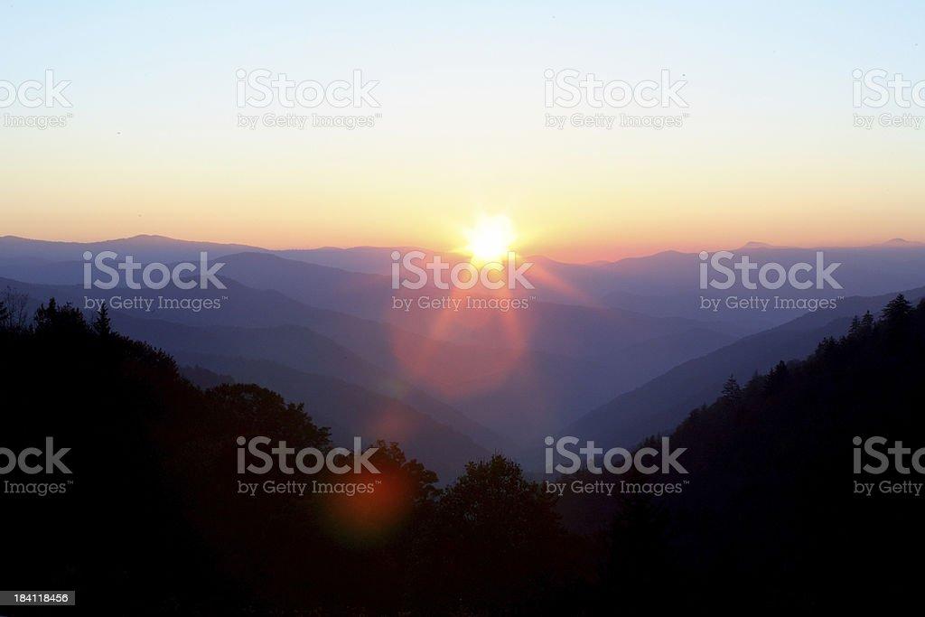 Great Smokey Mountains stock photo