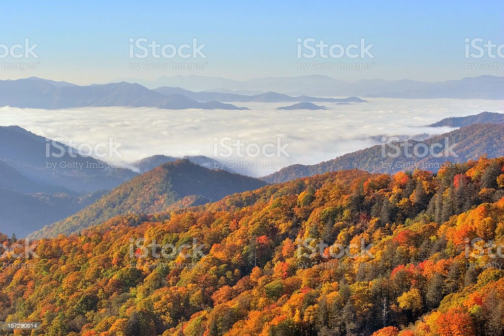 Great Smokey Mountains Vista stock photo
