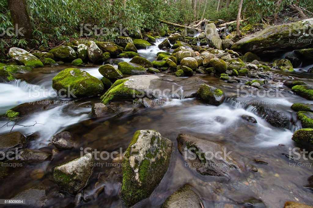 Great Smoky Mountain Stream stock photo