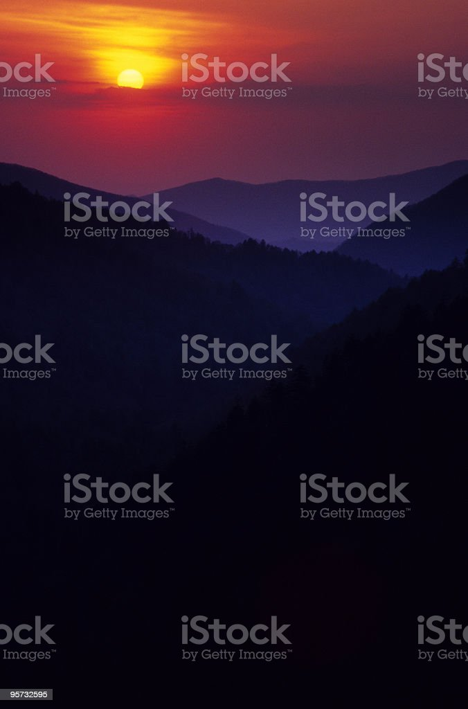Great Smoky Mountains from Morton Overlook stock photo
