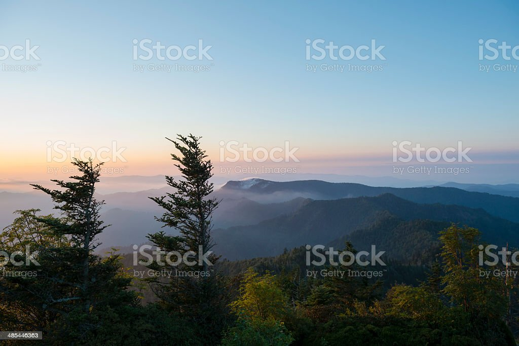 Great Smoky Mountains National Park landscape viewed from Mt. LeConte royalty-free stock photo