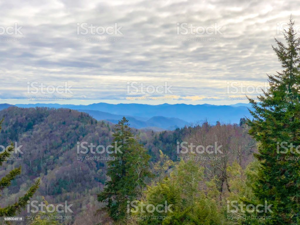 Great Smoky Mountains Overlook stock photo