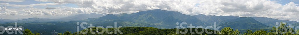 Great Smoky Mountains Pano royalty-free stock photo