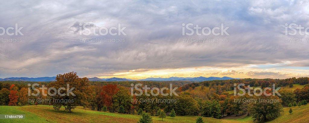 Great Smoky Mountains, sunset, Asheville, North Carolina stock photo