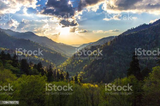 Photo of Great Smoky Mountains Sunset At Morton Overlook