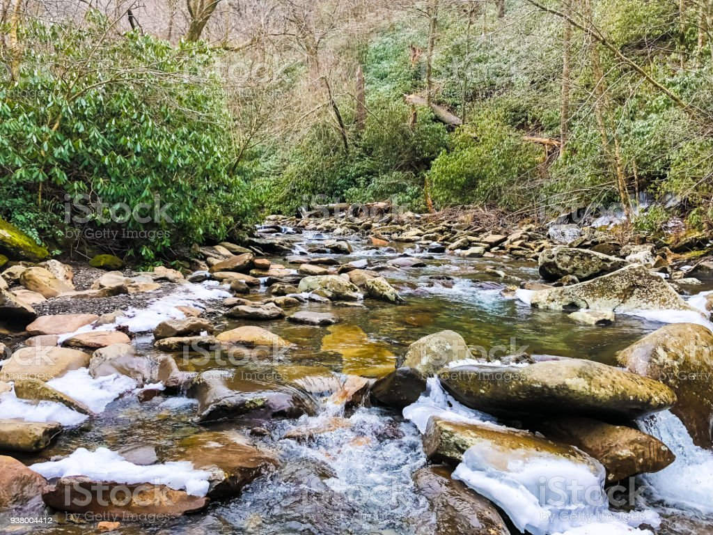 Great Smoky Mountains Water Flow stock photo