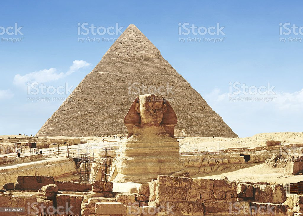 Great Sphinx of Giza - Egypt royalty-free stock photo