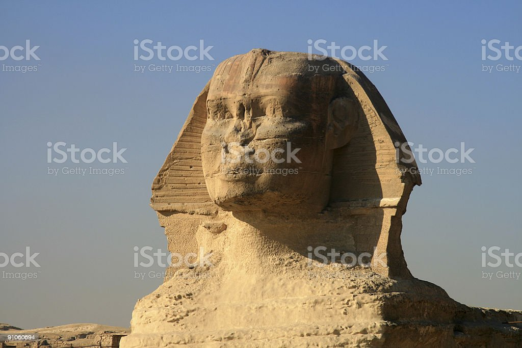 Great Sphinx of Giza in Cairo, Egypt stock photo