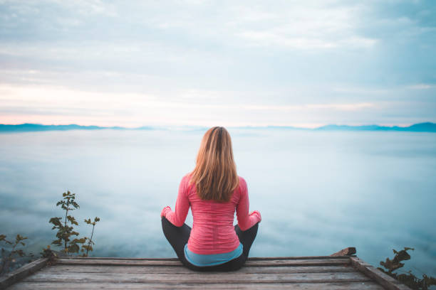 great start of the day - mindfulness stock photos and pictures