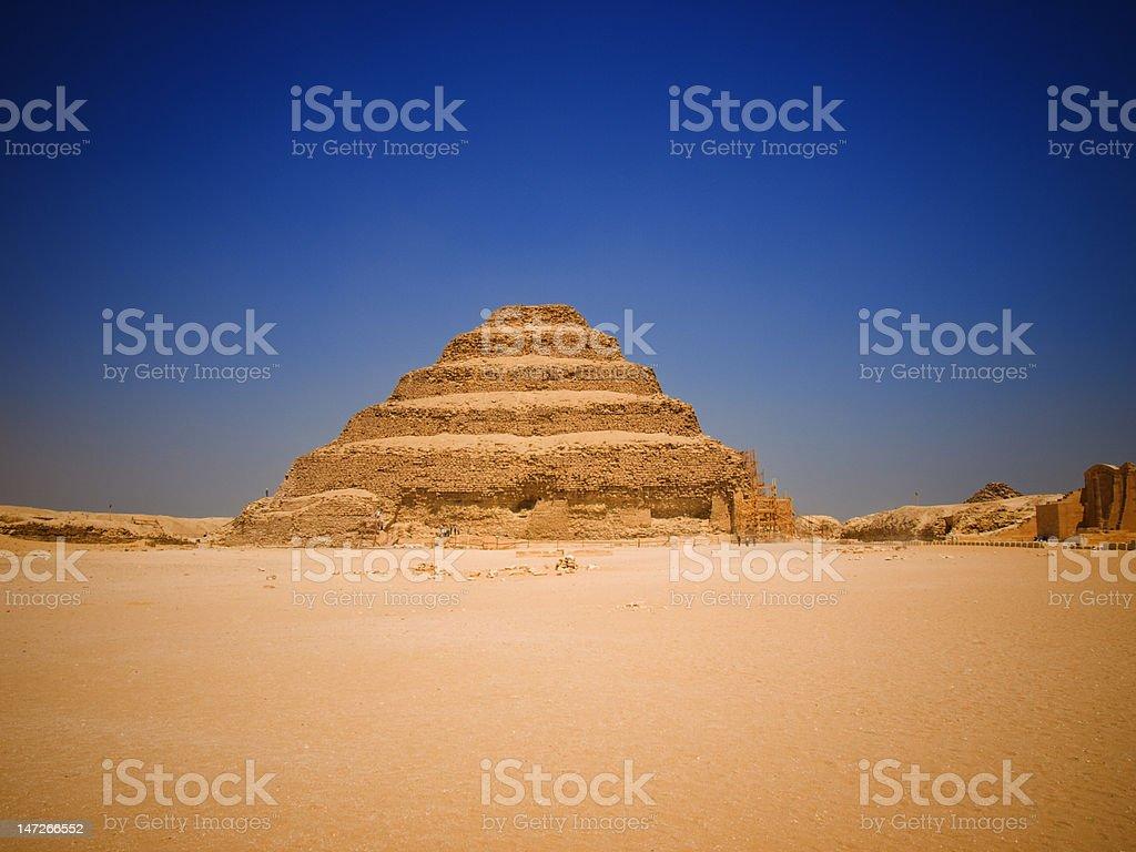 Great step pyramid of Djoser stock photo
