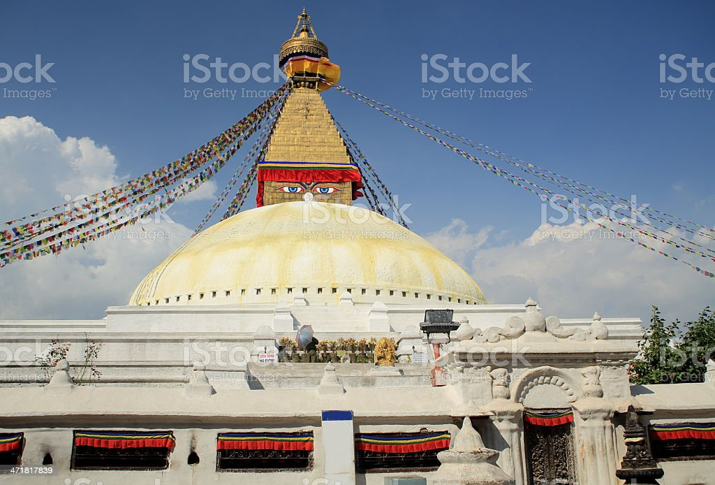 Great stupa of Boudhanath-Bodhnath. Kathmandu-Nepal. 0303 royalty-free stock photo